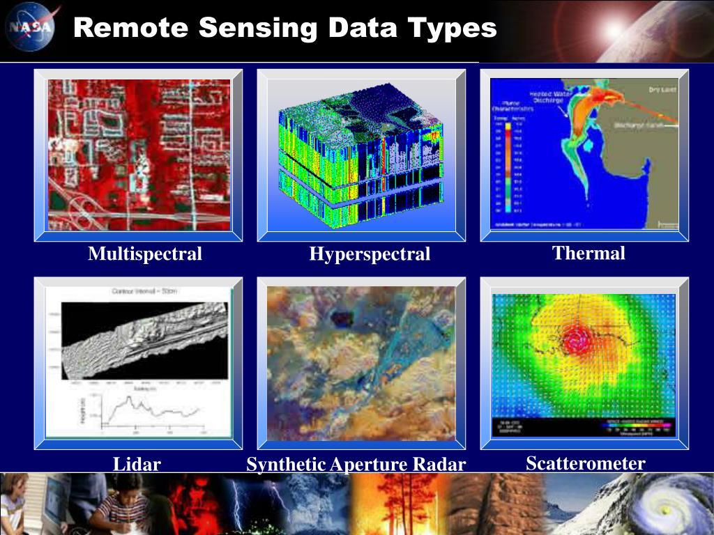 Remote Sensing Data Types