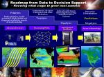 roadmap from data to decision support knowing what crops to grow next summer