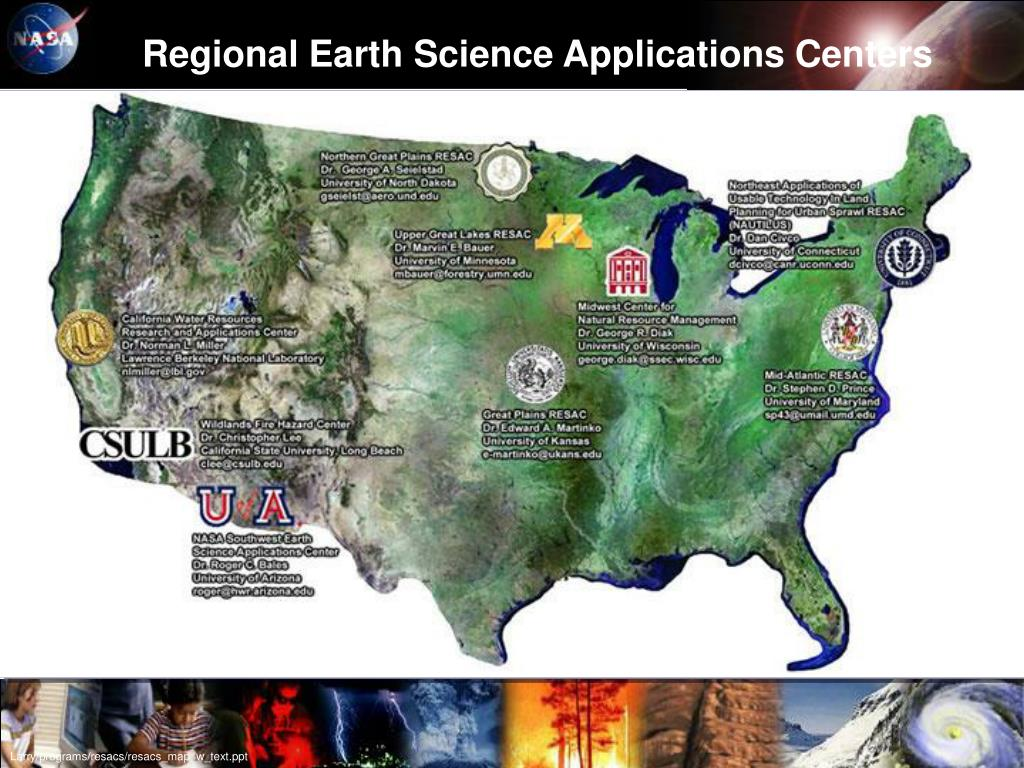 Regional Earth Science Applications Centers