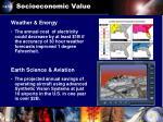 socioeconomic value
