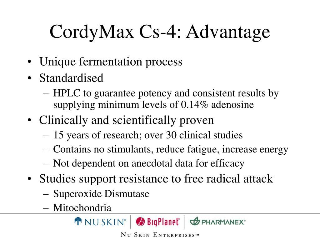 CordyMax Cs-4: Advantage