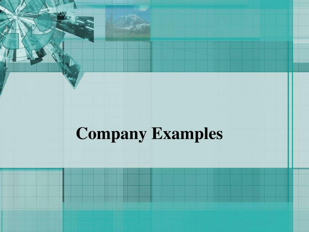 Company Examples