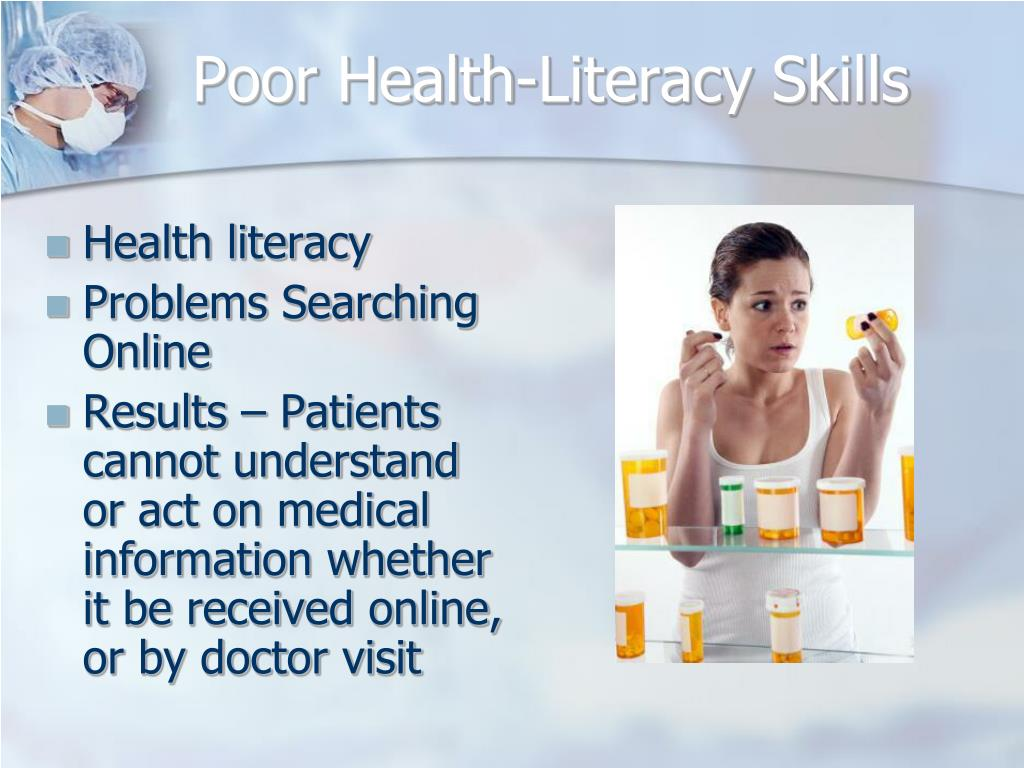 Poor Health-Literacy Skills