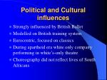 political and cultural influences