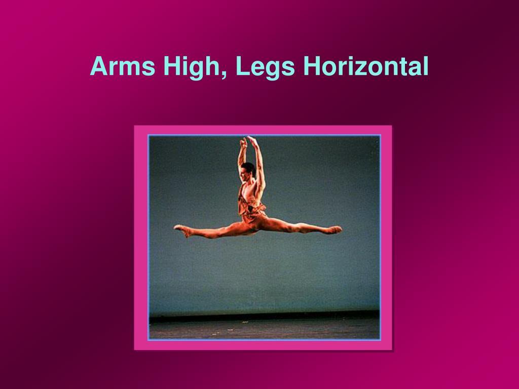 Arms High, Legs Horizontal
