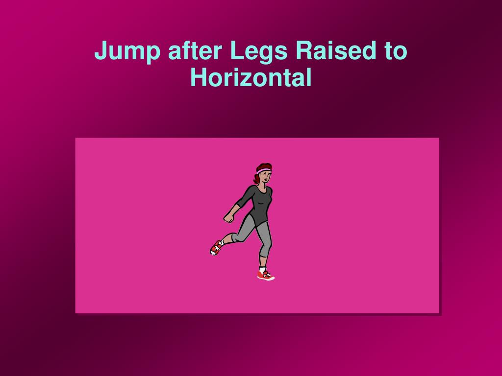 Jump after Legs Raised to Horizontal