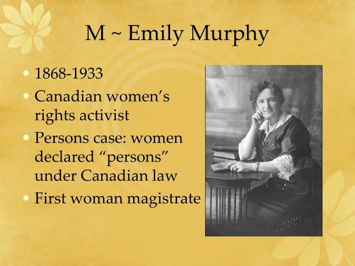 emily murphy canadian womens rights activist essay