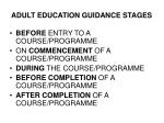 adult education guidance stages