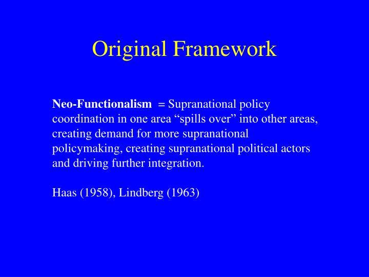 Original Framework