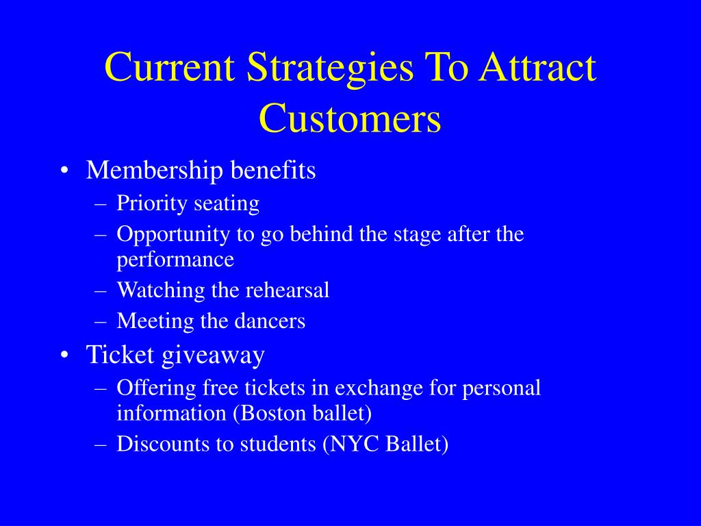 Current Strategies To Attract Customers