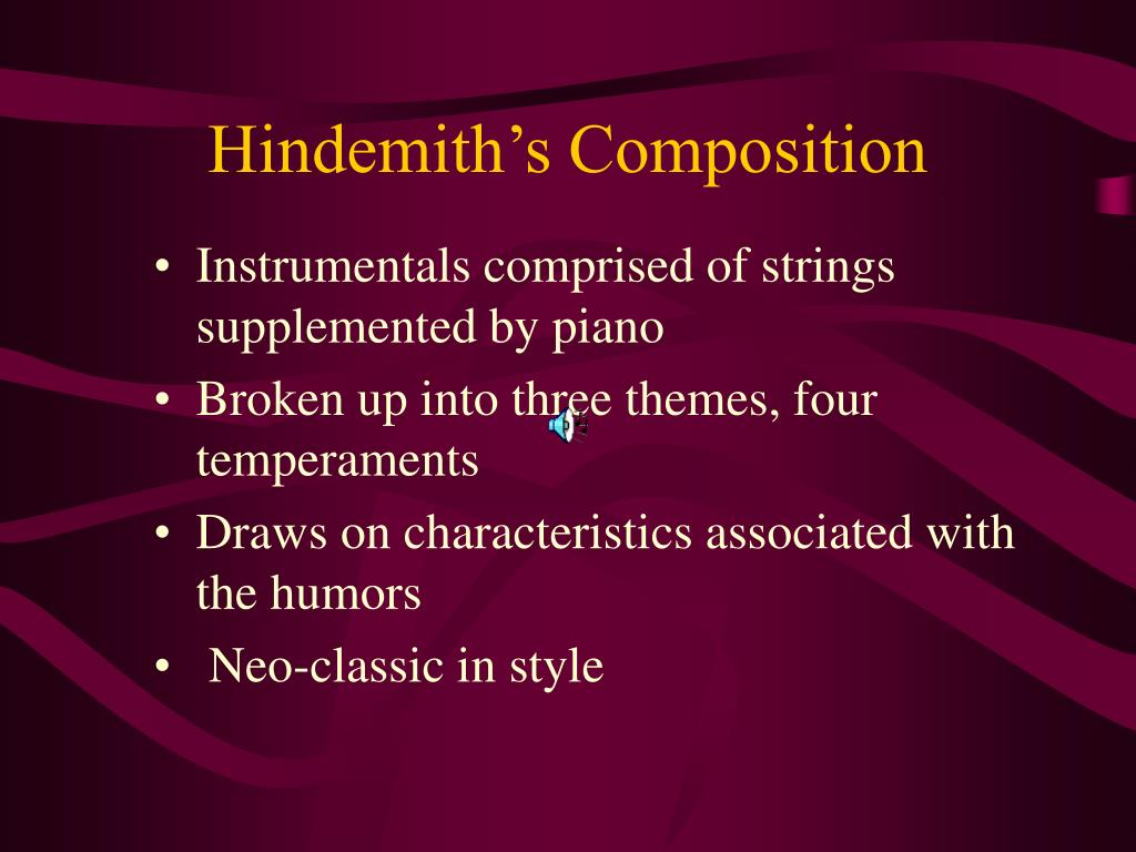 Hindemith's Composition