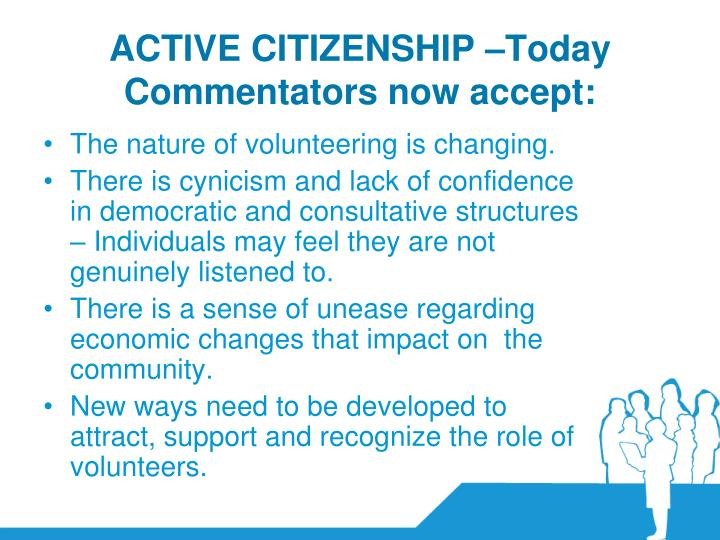 ACTIVE CITIZENSHIP –Today