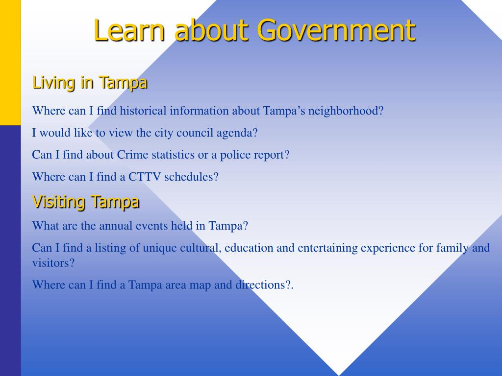 Learn about Government