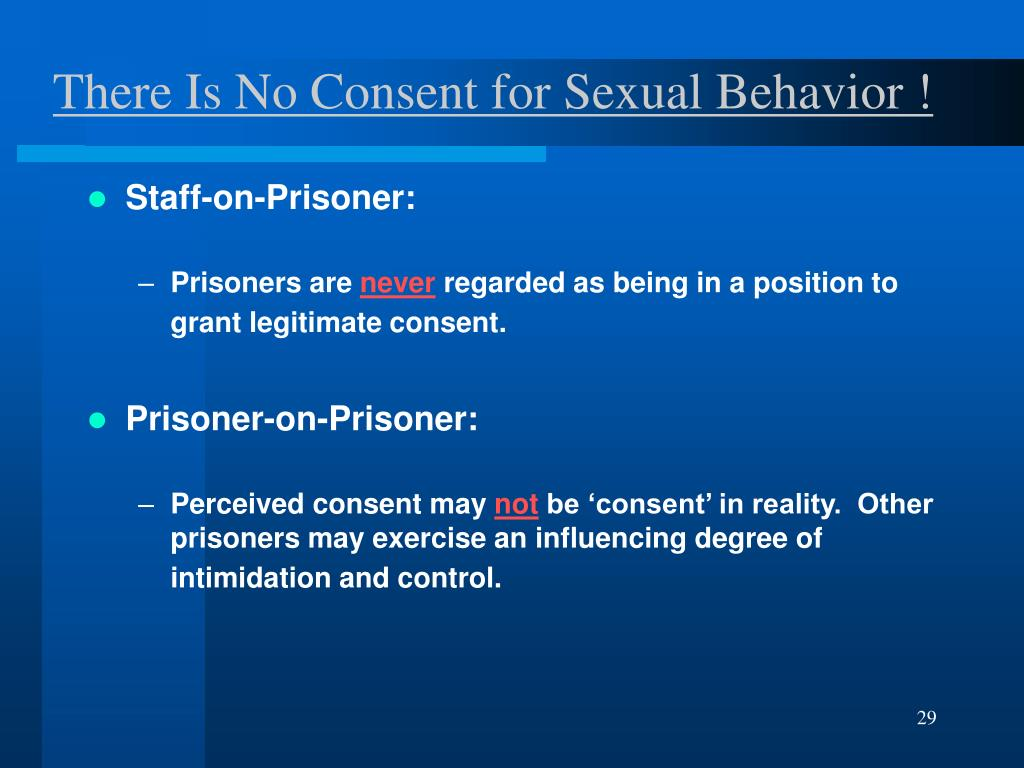 There Is No Consent for Sexual Behavior !