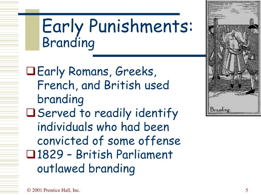 Early Romans, Greeks, French, and British used branding