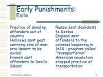 early punishments exile