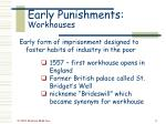 early punishments workhouses