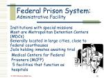 federal prison system administrative facility