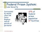 federal prison system low security