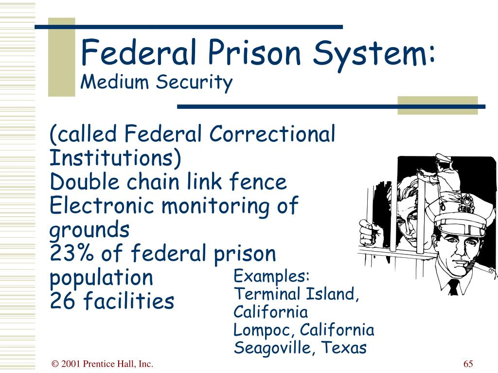 (called Federal Correctional Institutions)