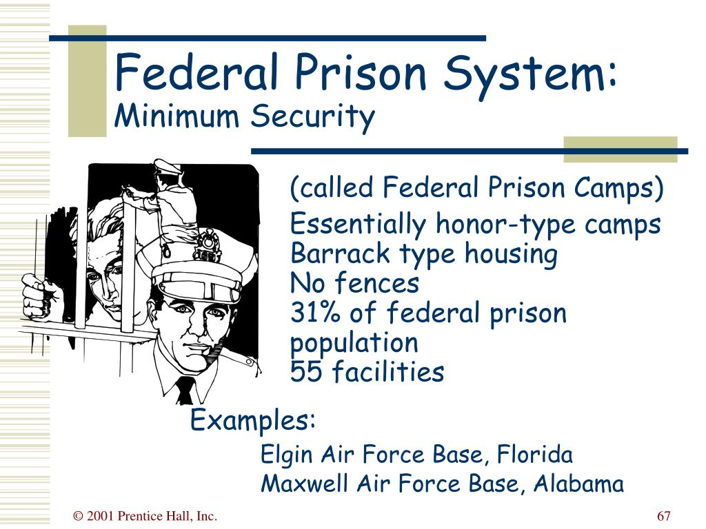 (called Federal Prison Camps)