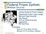 federal prison system minimum security