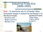 industrial prison era 1890 1935