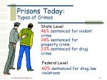prisons today types of crimes