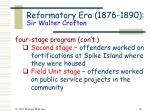 reformatory era 1876 1890 sir walter crofton20