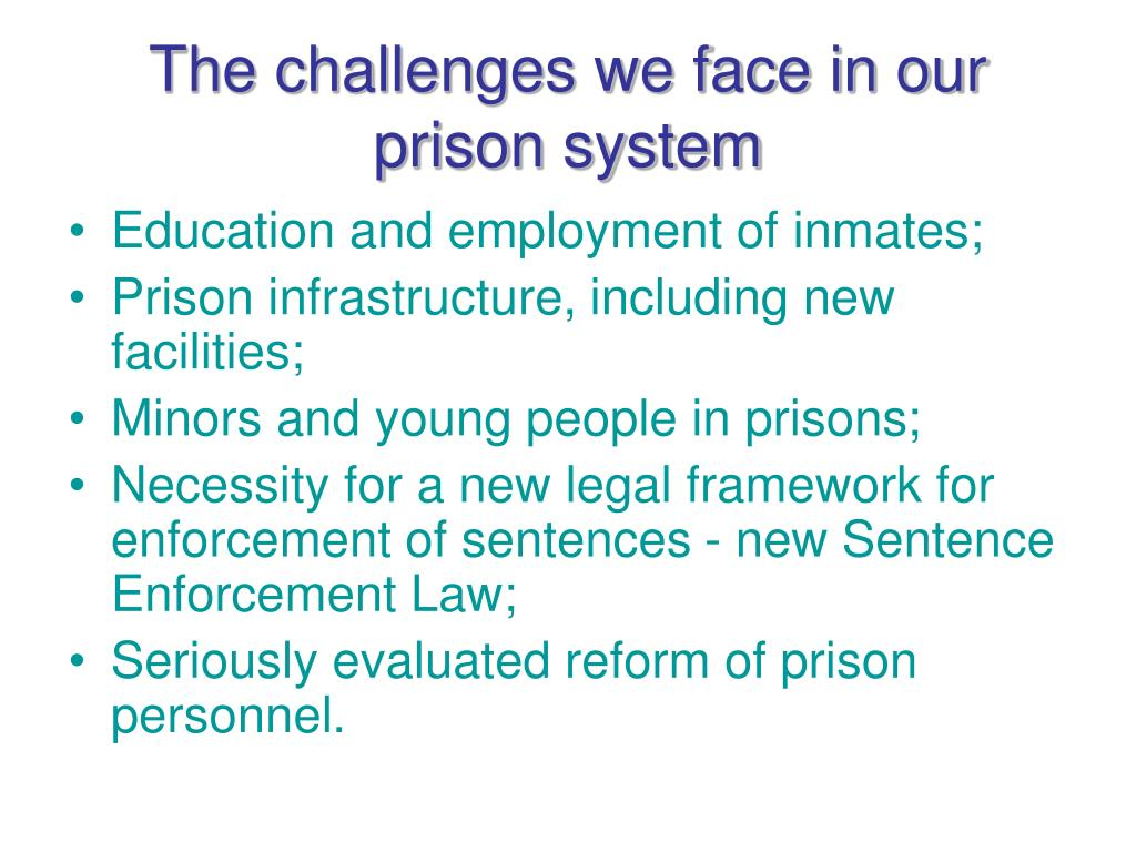 The challenges we face in our prison system