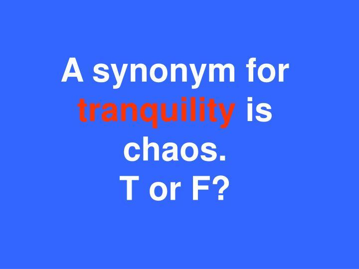 A synonym for