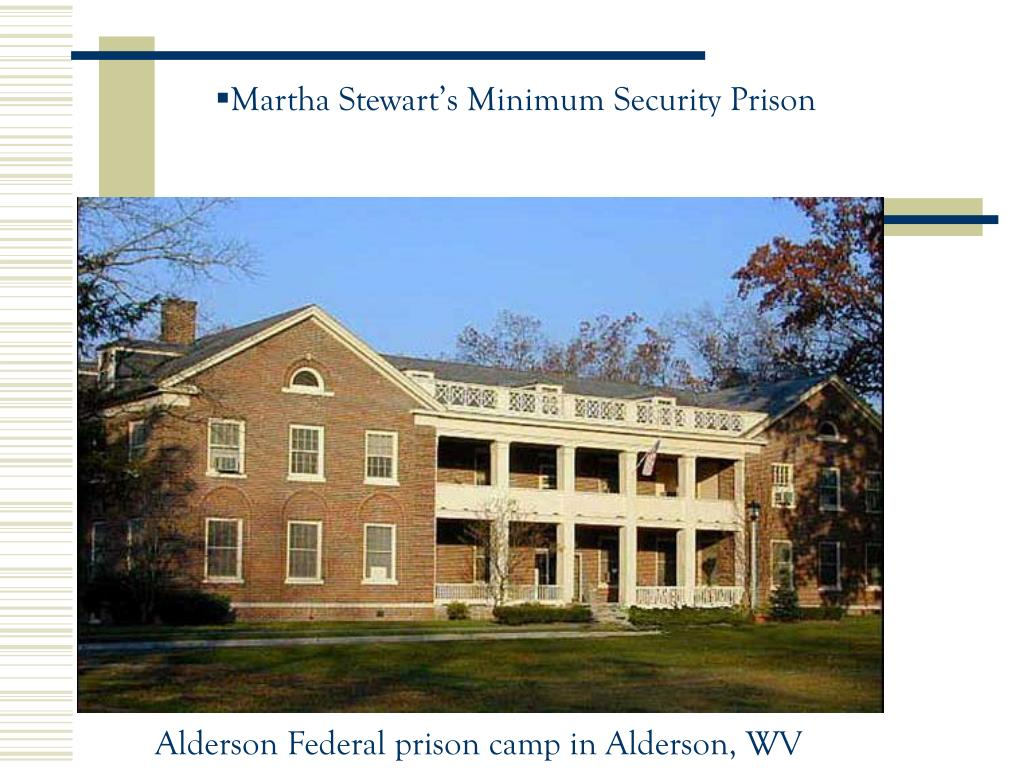 Martha Stewart's Minimum Security Prison