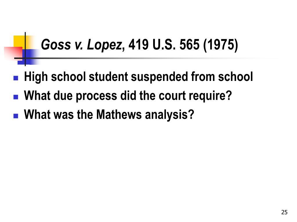 Goss v. Lopez
