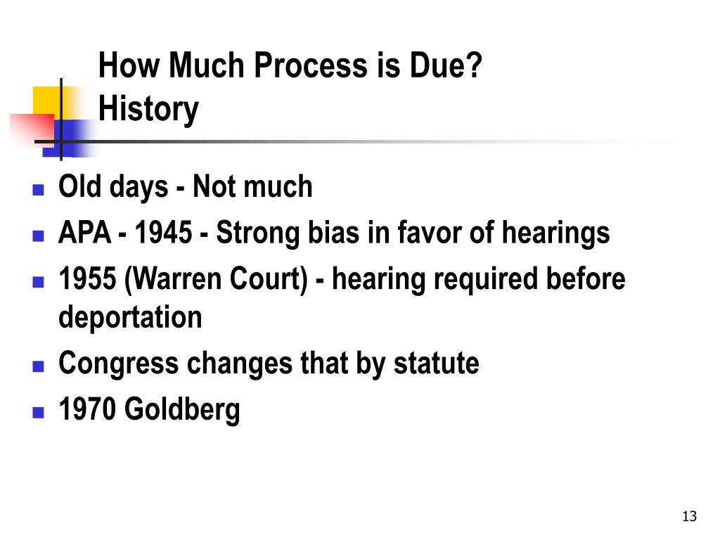 How Much Process is Due?