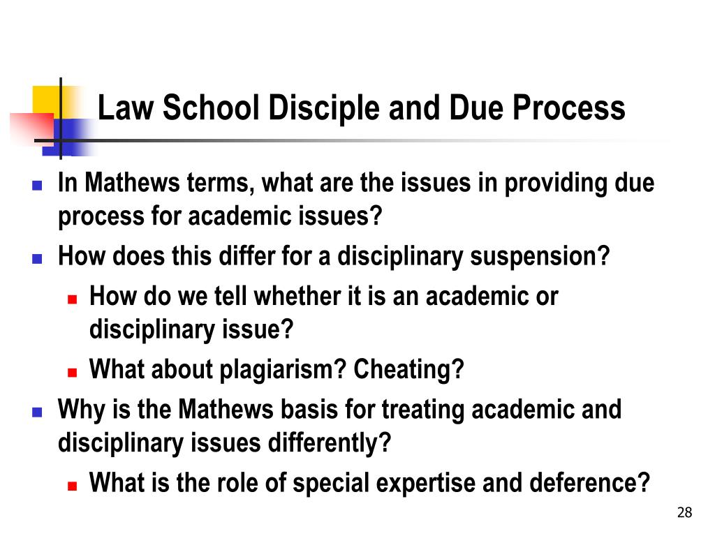 Law School Disciple and Due Process