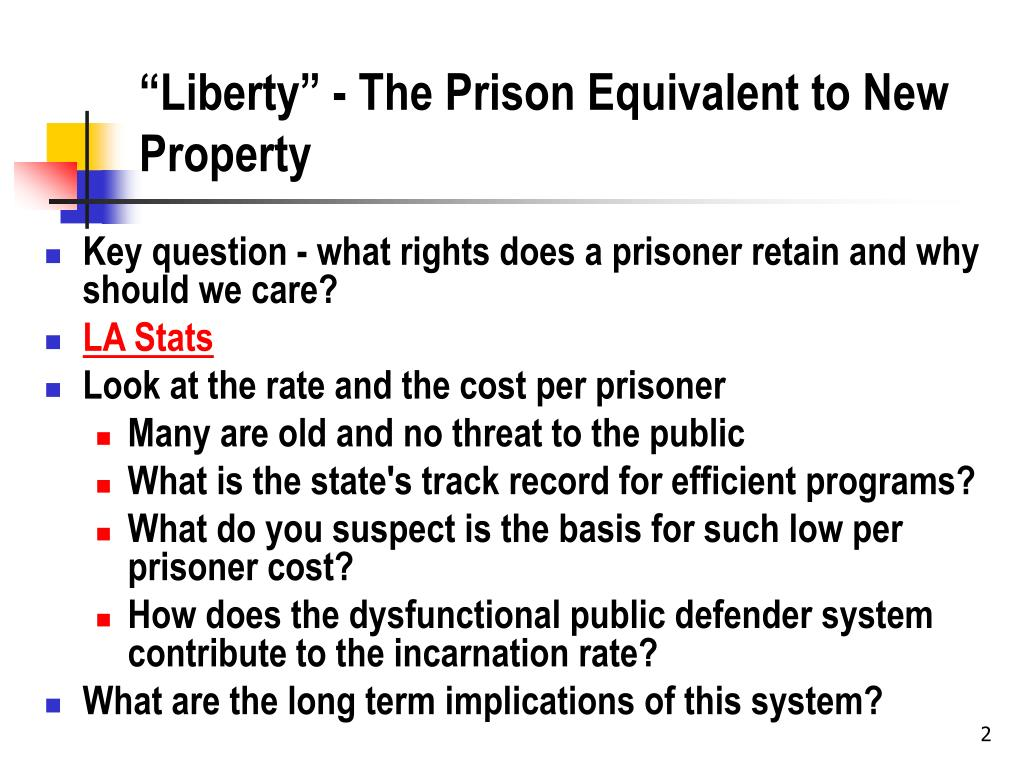 """Liberty"" - The Prison Equivalent to New Property"