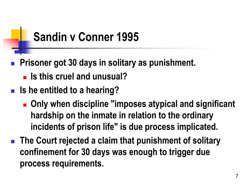 Sandin v Conner 1995