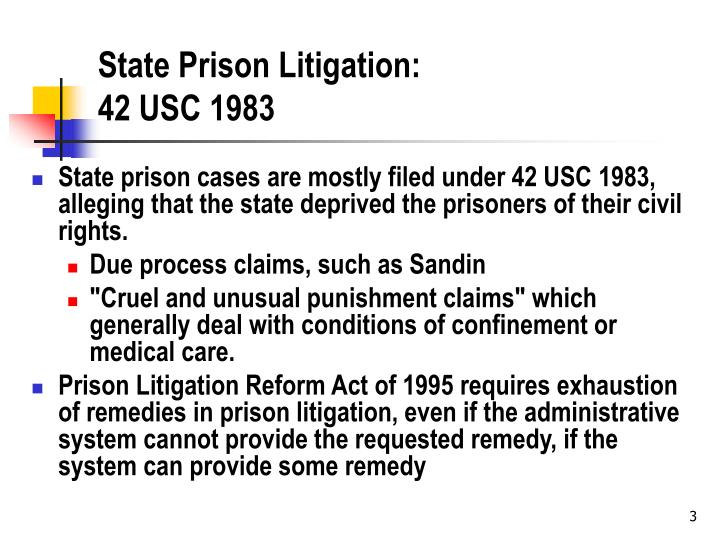 State prison litigation 42 usc 1983