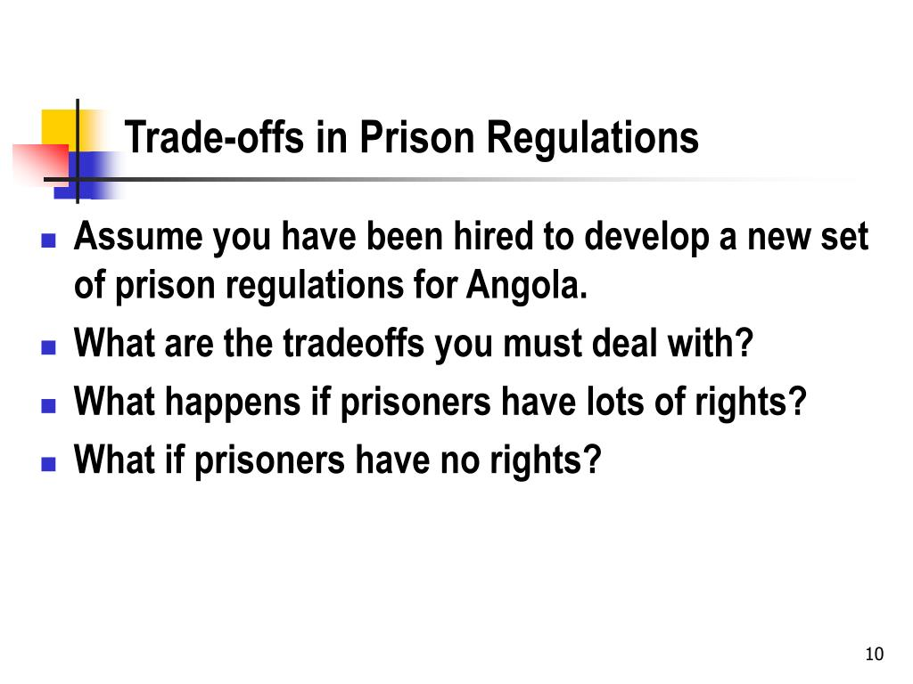 Trade-offs in Prison Regulations