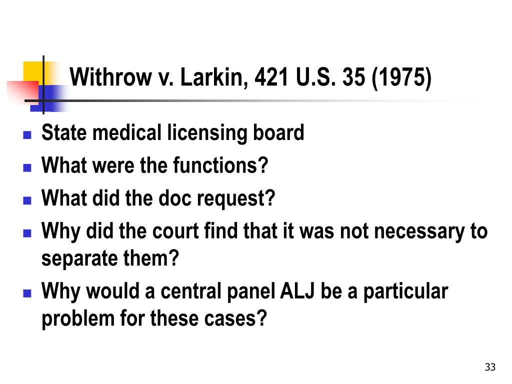 Withrow v. Larkin, 421 U.S. 35 (1975)