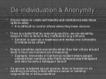 de individuation anonymity24