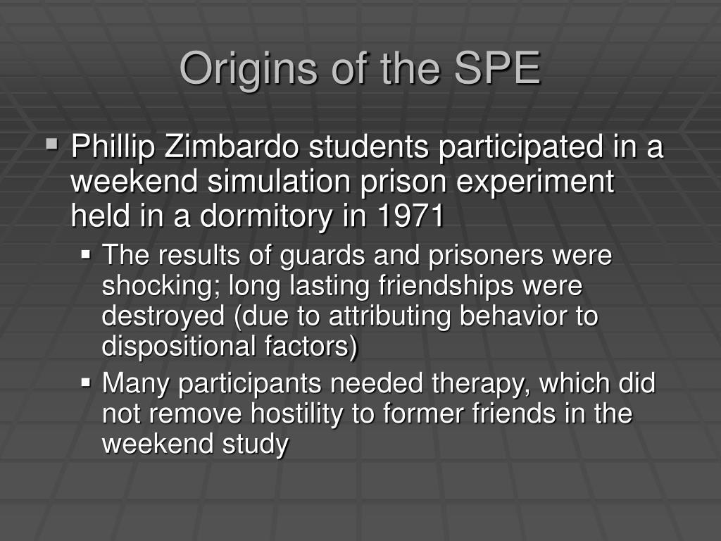 Origins of the SPE