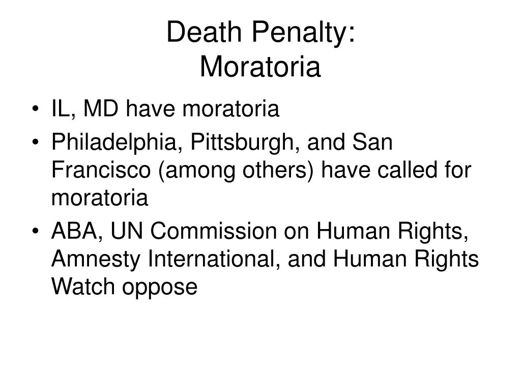 Death Penalty: