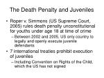 the death penalty and juveniles