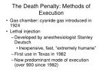 the death penalty methods of execution56