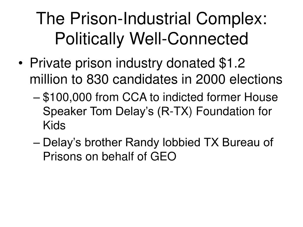 The Prison-Industrial Complex:
