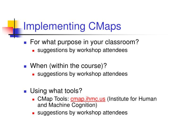Implementing CMaps