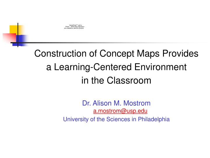 Construction of Concept Maps Provides