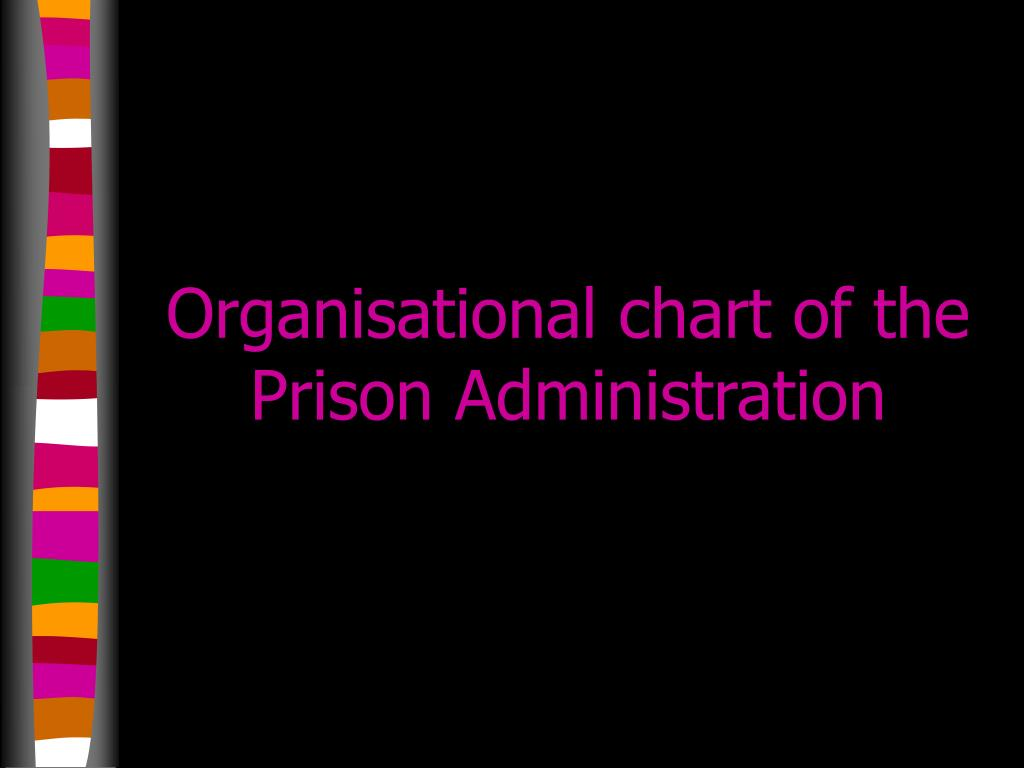 Organisational chart of the Prison Administration