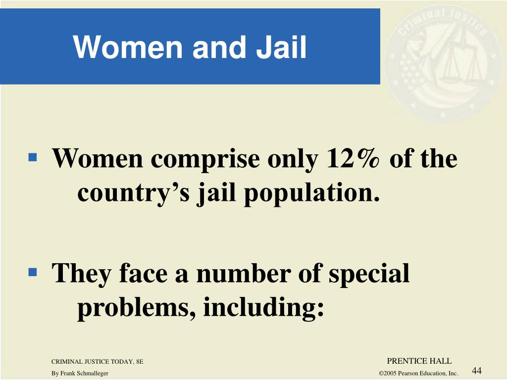 Women comprise only 12% of the 	country's jail population.